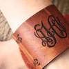 Personalized Horween Leather Bracelet or Cuff
