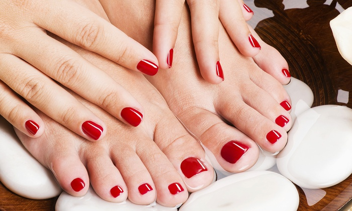 La Jolla Nails And Spa Inside Valente Hair - Northern San Diego: Regular or Shellac Manicure or Shellac Mani-Pedi at La Jolla Nails And Spa Inside Valente Hair (Up to 46% Off)