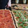 Włoska pizza w prostokątach