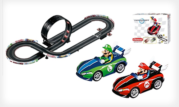 Go!!! Slot-Car-Racing Set: $59 for a Go!!! Mario Wii or Spider-Man Slot Car Racing Set (Up to $119.99 List Price). Free Shipping.