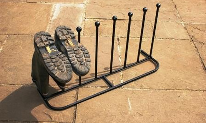 antique style metal boot stand groupon goods. Black Bedroom Furniture Sets. Home Design Ideas