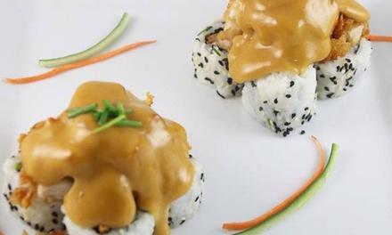 Menú para 2 o 4 con 28 o 56 piezas de sushi y bebida en Tsuki Sushi Bar(Reyes Católicos)(hasta 43% de descuento)