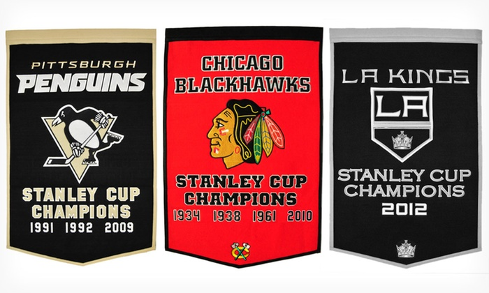 """Winning Streak 36""""x24"""" NHL Dynasty Banners: $46.99 for a Winning Streak NHL Dynasty Flag Banner ($79.99 List Price). 12 Teams Available. Free Shipping and Returns."""