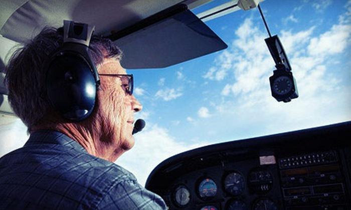 Noble AirVentures LLC - Stow: Half-Hour Scenic Flight for Two or Two-Hour Intro Flight Experience for One from Noble AirVentures LLC (Up to 62% Off)