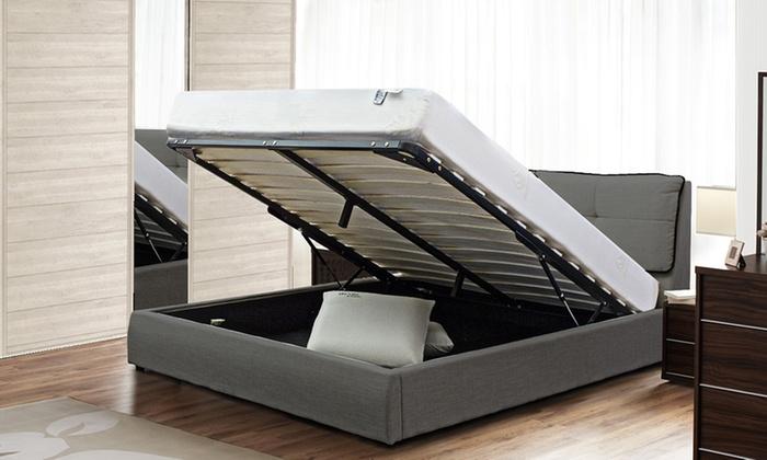 lit divina avec sommier fixe ou relevable groupon shopping. Black Bedroom Furniture Sets. Home Design Ideas