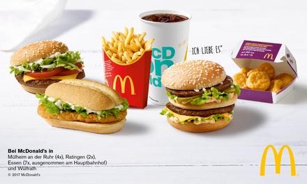 Wertgutschein über 5, 10, 15 oder 20 € anrechenbar auf das gesamte Sortiment bei McDonald