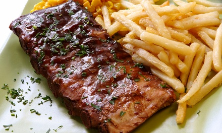 $8 for $15 Worth of Burgers, Baby Back Ribs, and Barbecue at Alfie's Inn