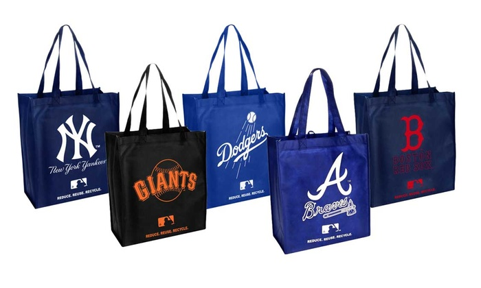766499b3d Forever Collectibles MLB Reusable Grocery Bag with Team Logo (2-Pack)