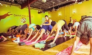 Dancing Dogs Yoga: 10 Classes or One Month of Unlimited Classes at Dancing Dogs Yoga Bluffton (Up to 65% Off)