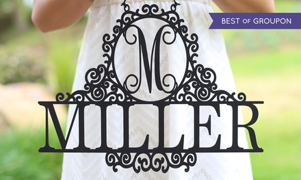 One or Two Monogrammed Last-Name Wall Signs from Morgann Hill Designs (Up to 60% Off)