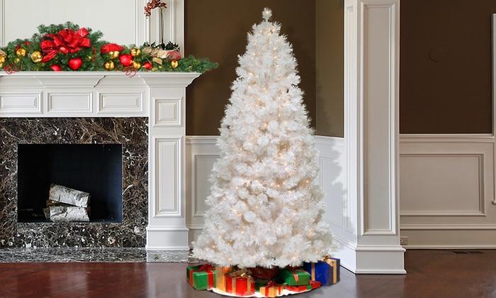 White Slim Tree W/ Clear Lights