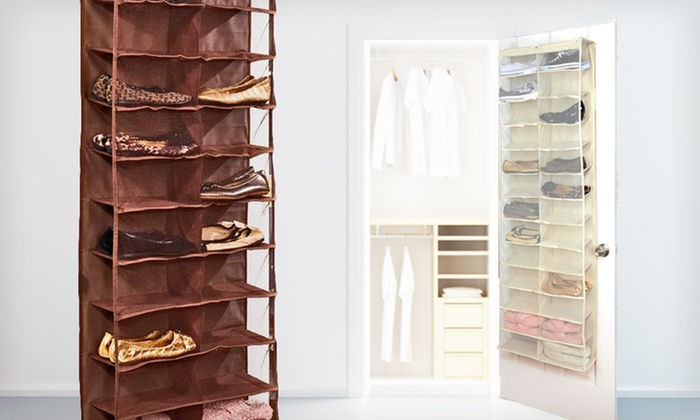 Over-the-Door Shoe Organizer: $19.99 for an Over-the-Door Shoe Organizer. Four colors available. ($35 List Price). Free Shipping and Returns.