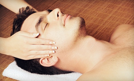 Men's Haircut and Hot-Towel Treatment with Optional Swedish Massage at High Maintenance Salon & Spa (Up to 56% Off)