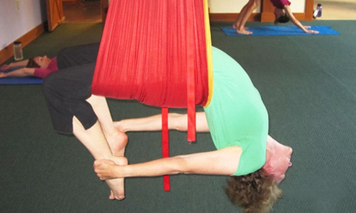 Highland Lake Yoga - Flat Rock: 10 or 20 Antigravity- or Universal-Yoga Classes at Highland Lake Yoga (Up to 66% Off)