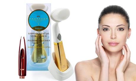 Limpiador facial sónico con pinzas Drakefor
