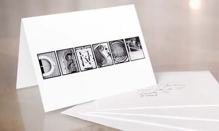 Custom Alphabet Stationery with 16, 32, or 48 Cards with Envelopes from Frame the Alphabet (Up to 62% Off)