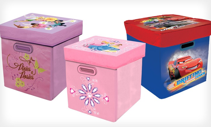 "Disney Storage Ottomans: $15 for a Disney ""Cars,"" Fairies, or Princesses Storage Ottoman ($29.99 List Price). Free Shipping and Free Returns."
