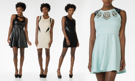 Poof Apparel Faux-Leather Dresses. Multiple Styles and Colors Available. Free Returns.
