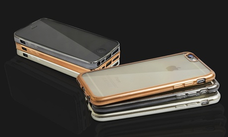 TPU Clear Case with Metal Look for iPhone