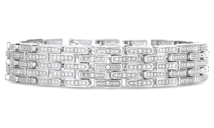 1.00 CTTW Genuine Diamond Bracelet