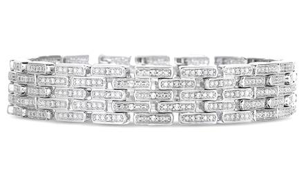1.00 CTTW Genuine Diamond Bracelet