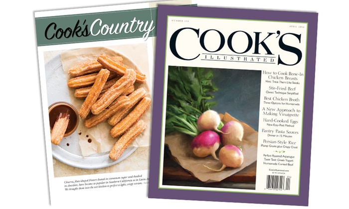 Cooks Illustrated & Cook's Country: One-Year, Six-Issue Subscription to Cook's Illustrated or Cook's Country Magazine