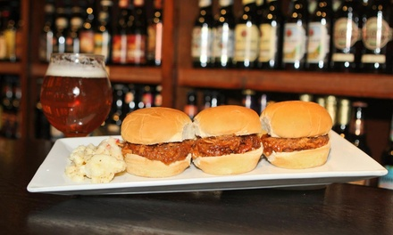Draft Beer and Pub Cuisine for Two or Four at Growler & Gill Craft Beer Shoppe (Up to 55% Off)