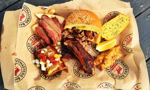 Pitmasters Back Alley BBQ: $13 for $20 Worth of Slow-Cooked Barbecue for Dinner at Pitmasters Back Alley BBQ