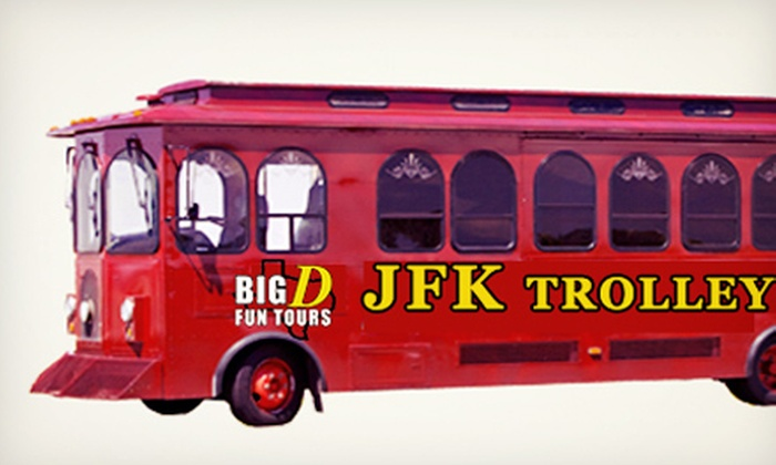 Big D Fun Tours - Downtown Dallas: One-Hour JFK Assassination Trolley Tour for One or Two from Big D Fun Tours (Up to Half Off)
