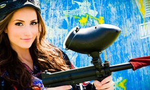 Paintball International: All-Day Paintball Package with Equipment Rental for 4, 6, or 12 at Paintball International (Up to 89% Off)