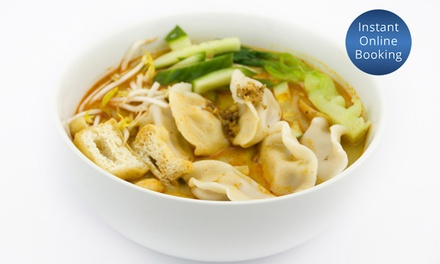ThreeCourse Asian Fusion Meal with Wine for Two $39 or Four $75 at MW Kitchen Hindley St Up to $149.20 Value