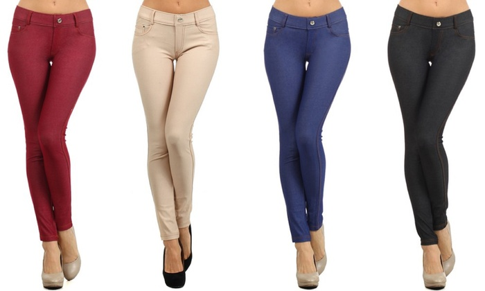 Women's Plus-Size Jeggings (3Pk) | Groupon Goods