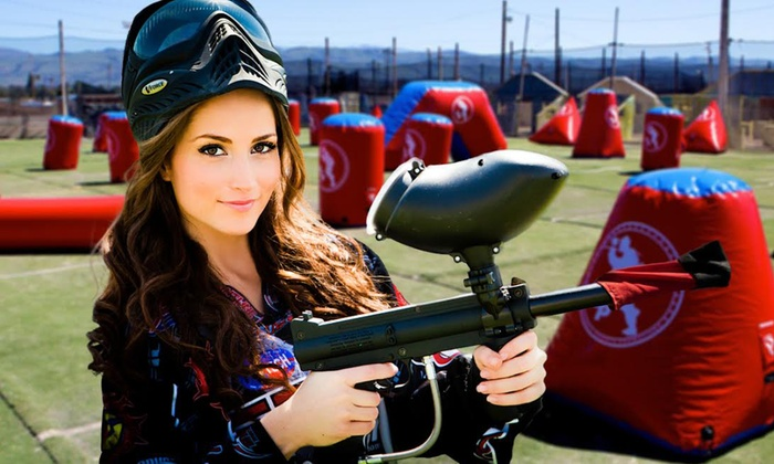 Paintball International - Multiple Locations: All-Day Paintball Package for 4, 6, or 12 from Paintball International (Up to 85% Off)