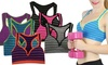 3-Pack of Women's Striped Padded Sports Bras: 3-Pack of Women's Striped Padded Sports Bras