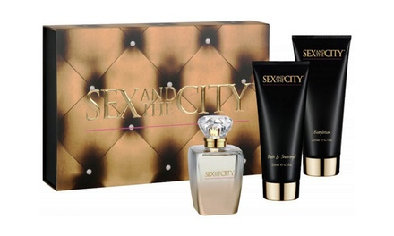 Sex and the City 3-Piece Gift Set for Women with Eau de Parfum, Shower Gel, and Body Lotion