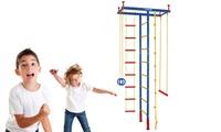 מתקן ספורט לילדים המשלב מגוון מכשירים לפעילות שונות, ללא קידוחים
