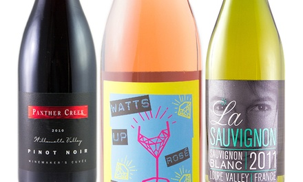 Three- or Six-Bottle Wine Package from Wine Awesomeness (Up to 51% Off)