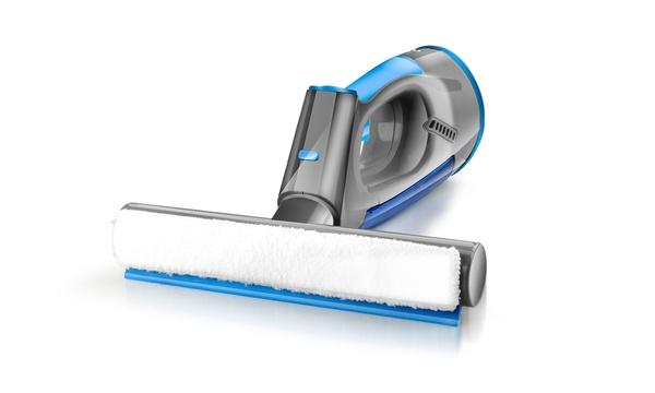 Nettoyeur à vitres aspirant sans fil Eternity et ses