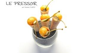 Le Pressoir: Menu Saveur de Saison, par le chef Vincent David pour 2 convives à 99 € au restaurant étoilé Le Pressoir