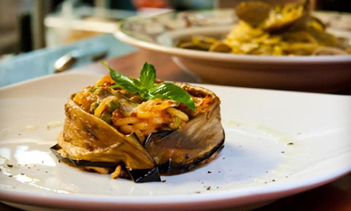 Cacio e Vino - East Village: Two-Course Sicilian Dinner with Wine for Two or Four at Cacio e Vino (Up to 60% Off)