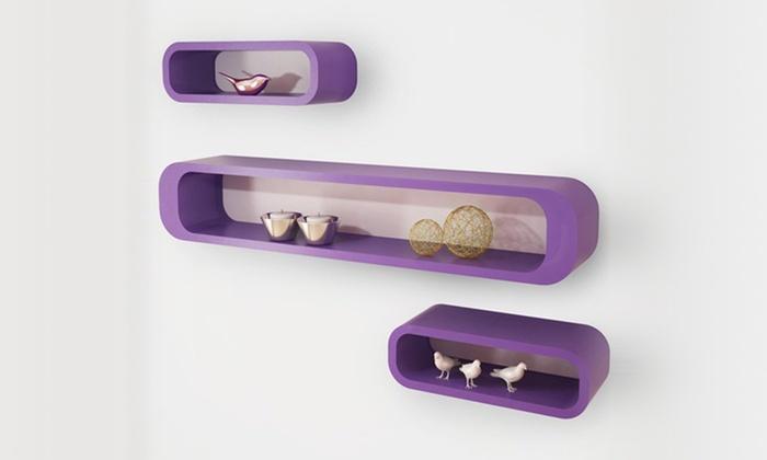 Set di 3 mensole di design groupon goods for Piccole mensole