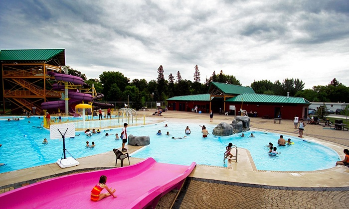 Splash Island Waterpark - Portage La Prairie: Waterpark Visit for Two or a Family of Five at Splash Island Waterpark (Up to 47% Off)