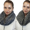 Women's Double-Layer Knit Infinity Scarf