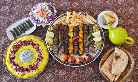 Persian Feast with Tea for Two $49 or Four People $98 at Taste of Saffron Restaurant Up to $188 Value