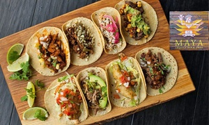 Maya Tequila Bar & Grill: All-You-Can-Eat Tacos for One ($9), Four ($36) or Eight People ($72) at Maya Tequila Bar & Grill (Up to $240 Value)