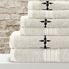 600 GSM Embroidered Egyptian-Cotton 6-Piece Towel Set