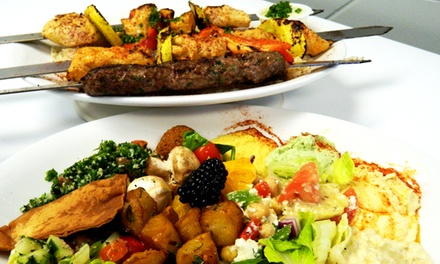 Meat Platters and Dessert for Two or Four at Leena's Mediterranean Grill (Up to 43% Off)