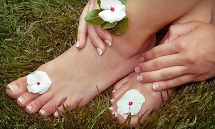 Beyond Salon & Spa - Howard: Paraffin Manicure and Spa Pedicure or Basic Manicure and Pedicure at Beyond Salon & Spa (Up to 53% Off)