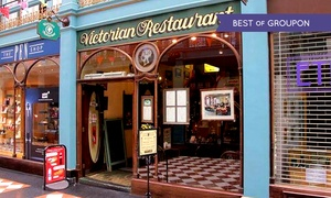 The Victorian Restaurant: Afternoon Tea With Wine For Two, Four or Six from £18 at The Victorian Restaurant