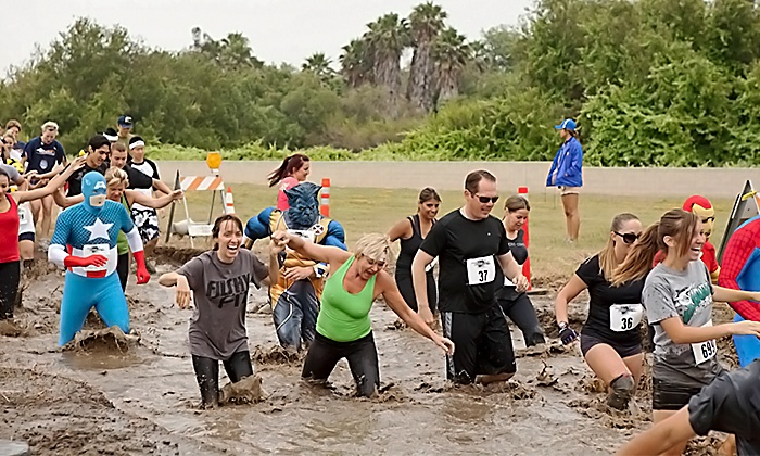 Mach 1 Mud Run - Corona Municipal Airport: Registration for One or for a Four-Person Team for the Mach 1 Mud Run on Saturday, June 20 (Up to 61% Off)